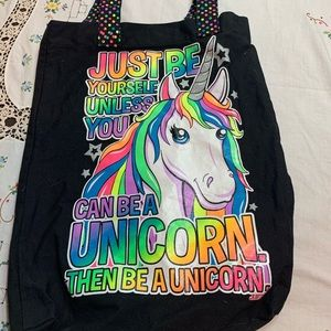 Justice bag unicorn item # T1108 new wo tags